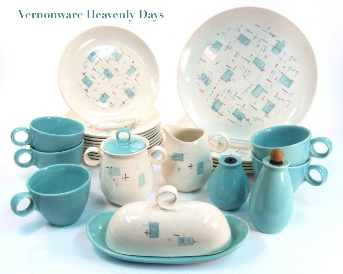Heavenly Days! Absolutely. Tired of turquoise? (GASP!) Have no fear....Vernonware\u0027s Tickled Pink is the lovely pink version of Heavenly Days  sc 1 st  Mod Livin & Dine In Mid Century Modern Style - Mod Livin\u0027 Modern Furniture
