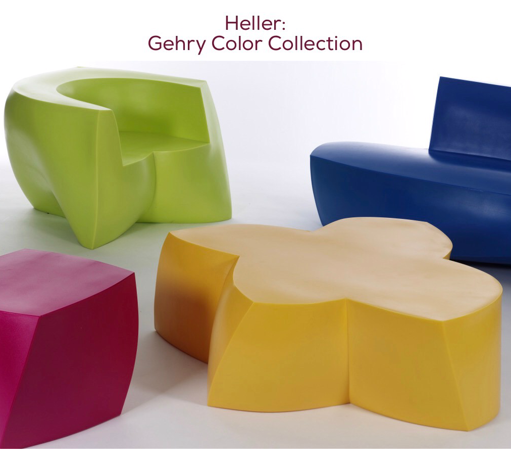 party on the patio  mod livin' modern furniture - make a bold and fun statement in your garden with the heller gehry colorcollection vivid colors and playful shapes make this line unforgettable