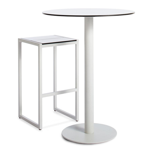 shown with optional stool