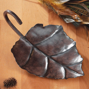 Metal Leaf Candle Holder