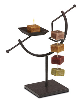Candle on Rope Tower Holder- ARC Bronze