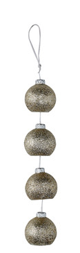 Silver Ornaments Candle on A Rope