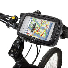 LUPO Bike Mount Holder and Water Resistant Tough Case for iPhone 5, 5S - BLACK