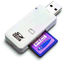 LUPO SDHC SD USB 2.0 Memory Card Stick Reader Adapter Writer (Supports Windows & Mac)