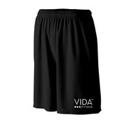 VIDA Men's Black Wicking Mesh Short with POCKETS