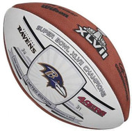 Super Bowl 47 XLVII Wilson Official NFL Authentic Game Football Ravens Champions 1-White panel