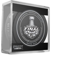 2015 Stanley Cup Finals Game 1 NHL Hockey Official Game Puck Tampa Bay Lightning vs Chicago Blackhawks