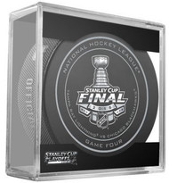 2015 Stanley Cup Finals Game 4 NHL Hockey Official Game Puck Tampa Bay Lightning vs Chicago Blackhawks