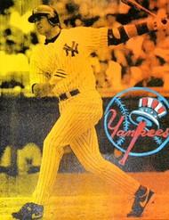 Alex Rodriguez New York Yankees 27x35 John Stango Original Abstract Art Acrylic On Canvas Painting