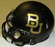 Baylor Bears Matte Black Riddell NCAA Replica Revolution SPEED Mini Helmet