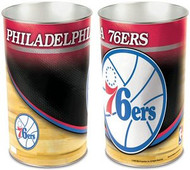 Philadelphia 76ers NBA Team Logo Wincraft Metal Tapered Wastebasket Trash Can