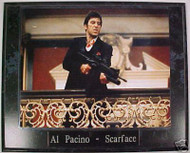 Al Pacino Scarface 10.5x13 Movie Plaque