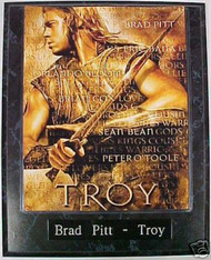 Brad Pitt Troy 10.5x13 Movie Plaque