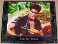 Charlie Sheen Platoon 10.5x13 Movie Plaque