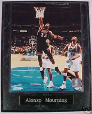 Alonzo Mourning Miami Heat 10.5x13 Plaque