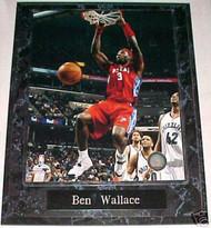 Ben Wallace Detroit Pistons 10.5x13 Plaque - PLAQUE-0327