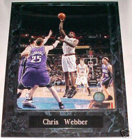 Chris Webber Philadelphia 76ers 10.5x13 Plaque