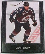 Chris Drury Colorado Avalanche 10.5x13 Plaque