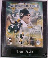 Brett Favre Green Bay Packers 10.5x13 Plaque - PLAQUE-0477