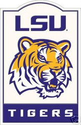 LSU Louisiana State Tigers NCAA Football Riddell Nostalgic Sign