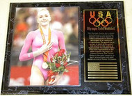 Nastia Liukin Team USA Olympic Games 15x12 Gold Medal Plaque