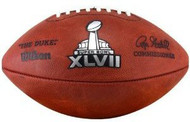 Super Bowl 47 XLVII Wilson Official NFL Authentic Game Football San Francisco 49ers vs Baltimore Ravens