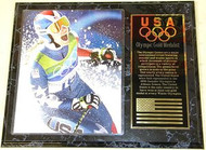 Lindsey Vonn Team USA Olympic Games 15x12 Gold Medal Plaque