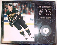 Joe Nieuwendyk Dallas Stars 15x12 Plaque With Puck