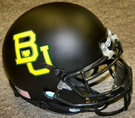 Baylor Bears Matte Black Schutt NCAA College Football Authentic Team Mini Helmet