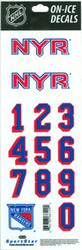 New York Rangers Sportstar Officially Licensed Authentic Center Ice NHL Hockey Helmet Decal Kit #2