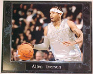 Allen Iverson Denver Nuggets 10.5x13 Plaque