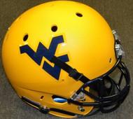 West Virginia Mountaineers Matte Gold Schutt NCAA College Football Team Full Size Replica XP Helmet