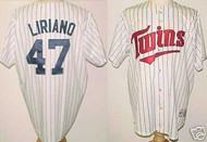 Francisco Liriano Minnesota Twins Majestic Home Custom XL Jersey