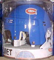 Montreal Canadiens NHL Hockey Player Classic Blue Throwback Team Logo Mini Helmet
