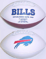 Buffalo Bills Rawlings Jarden Sports Signature NFL Full Size Fotoball Football Current Version - BLOWN UP with BOX & PEN