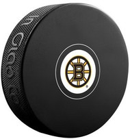 Boston Bruins NHL Team Logo Autograph Model Hockey Puck - Current Logo