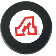 Atlanta Flames NHL Team Logo Autograph Throwback Hockey Puck 1972-1980