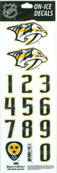 Nashville Predators Sportstar Officially Licensed Authentic Center Ice NHL Hockey Helmet Decal Kit #1