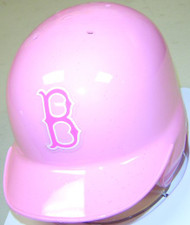 Boston Red Sox Pink Riddell MLB Replica Mini Batting Helmet