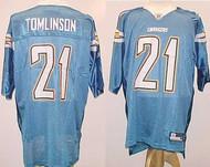 Ladainian Tomlinson San Diego Chargers NFL Powder Blue Custom Reebok Licensed Mesh Souvenir Jersey Size XL