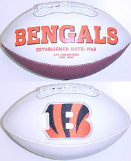Cincinnati Bengals Rawlings Jarden Sports Signature NFL Full Size Fotoball Football Current Version - BLOWN UP with BOX & PEN
