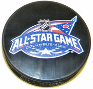 2015 All-Star Game NHL Autograph Model Hockey Puck Hosted by the Columbus Blue Jackets