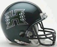 Hawaii Rainbow Warriors Riddell NCAA Replica Green Mini Helmet