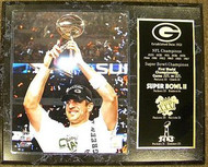 Aaron Rodgers Green Bay Packers Super Bowl Champions XLV 45 Trophy 12x15 Plaque