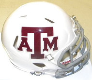 Texas A&M Aggies WHITE Riddell NCAA Replica Revolution SPEED Mini Helmet