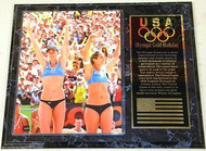 Kerri Walsh Jennings & Misty May-Treanor Team USA 2008 Olympic Games 15x12 Gold Medal Beach Volleyball Plaque