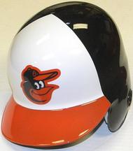 Baltimore Orioles Home White/Black/Orange Bird Head Logo Rawlings Full Size Authentic Right Handed MLB Batting Helmet - Left Flap Regular