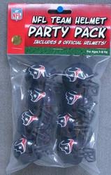 Houston Texans NFL Football Riddell 8 Gumball Helmet Party Pack Set