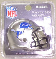 Detroit Lions NFL Riddell Pocket Pro Revolution Helmet