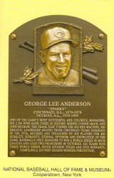 Sparky Anderson Reds Hall Of Fame Postcard
